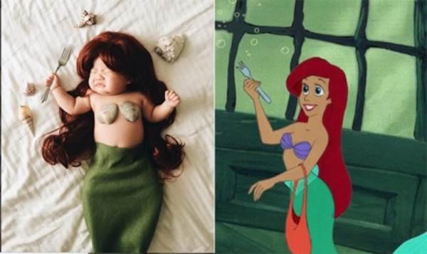Bé gái 4 tháng tuổi nổi tiếng vì đóng giả nhân vật phim lúc ngủ - Ảnh 1