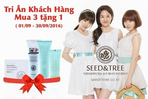 Từ ngày 01 - 30/09 Mỹ phẩm Seed & Tree khuyến mãi tri ân khách hàng - Ảnh 1