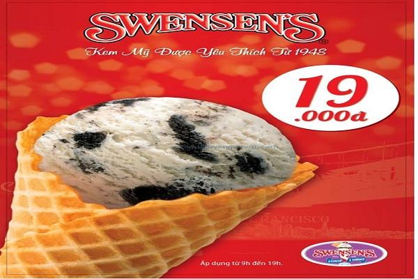 Khuyến mãi giờ vàng giảm giá kem Cone 19K tại chuỗi nhà hàng kem Mỹ SWENSEN'S từ ngày 03 - 30/07/2016 - Ảnh 1