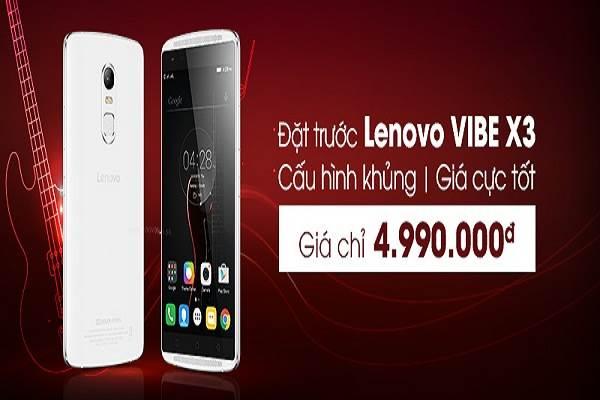 Lenovo VIBE X3 trở lại, giá cực sốc 4.990.000đ - Ảnh 1