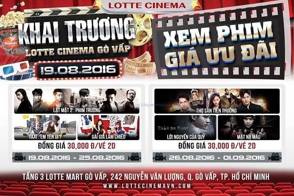 Từ ngày 19 - 25/08 Lotte Cinema Gò Vấp khuyến mãi khai trương - Vé xem phim 30k, tặng quà hấp dẫn - Ảnh 1