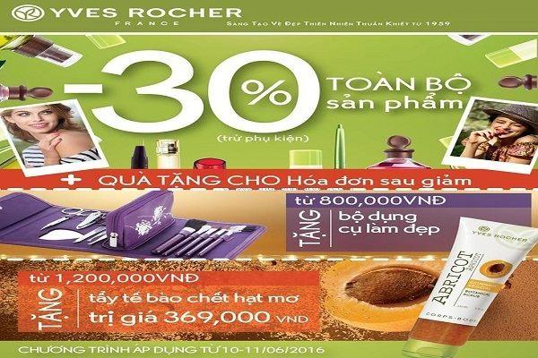 Yves Rocher Kim Mã khuyến mãi nhân khai trương - Giảm giá 30% từ ngày 7 - 11/07/2016  - Ảnh 1