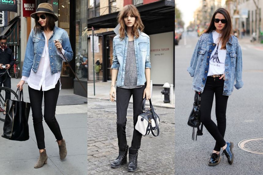 Muôn kiểu phối đồ vời áo khoác Jeans