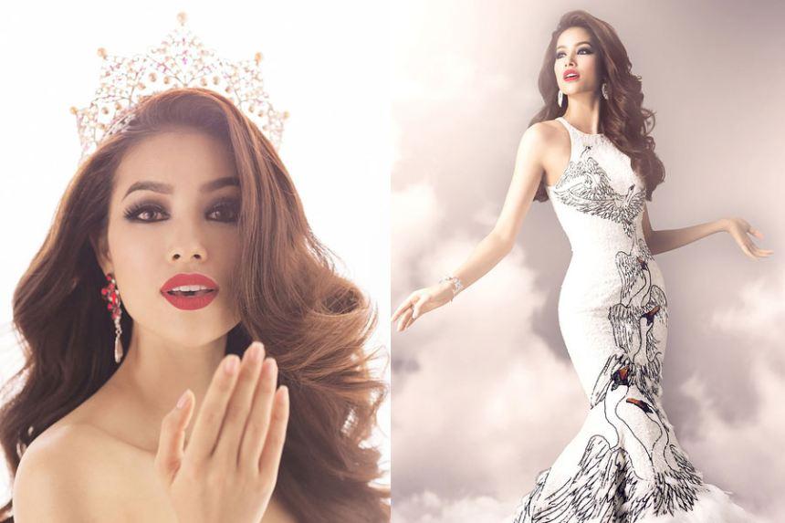 Ngẩn ngơ ngắm trang phục dạ hội tuyệt đẹp của Phạm Hương tại Hoa hậu Hoàn vũ 2015