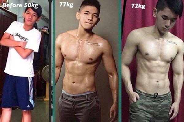 Thực đơn và lịch tập của 9X tăng 23 kg, cơ bụng 6 múi