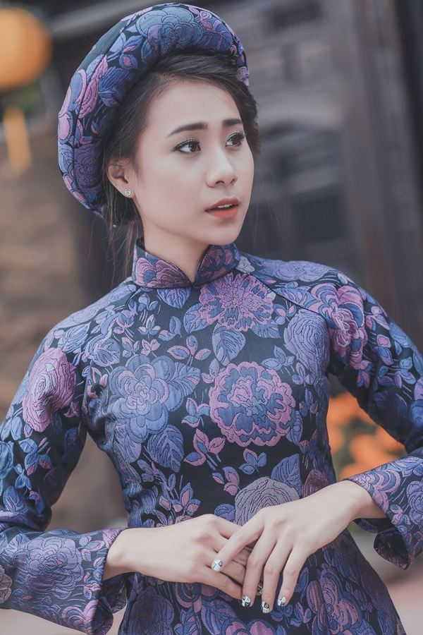 Hồ Bích Trâm diện áo dài đón năm mới tại quê nhà  Quảng Ngãi - Ảnh 2