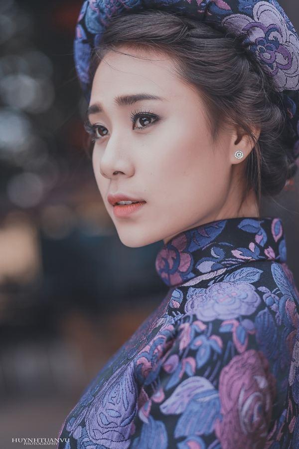 Hồ Bích Trâm diện áo dài đón năm mới tại quê nhà  Quảng Ngãi - Ảnh 3