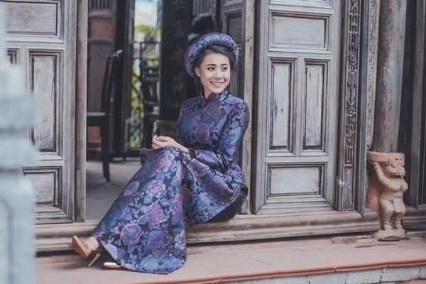 Hồ Bích Trâm diện áo dài đón năm mới tại quê nhà  Quảng Ngãi - Ảnh 8
