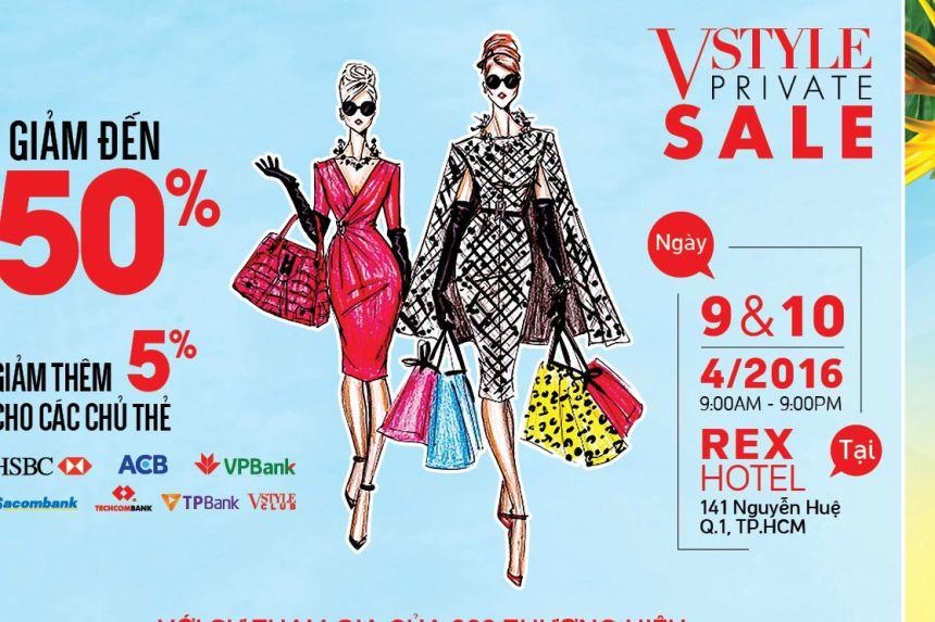Khuyến mãi hàng hiệu Vstyle's Private Sale TPHCM – giảm giá đến 80%