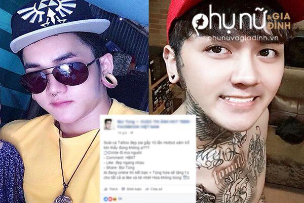 Nam người mẫu tự phong là soái ca tattoo, khiêu chiến với Hot boy xăm trổ