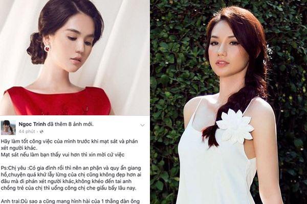 Quỳnh Chi nói gì khi bị Ngọc Trinh 'điểm danh dằn mặt'?