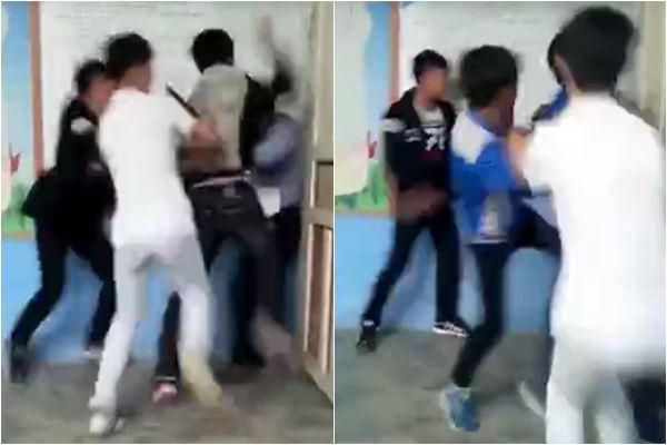 Không chịu nộp bài, gần chục học sinh lao vào đánh hội đồng thầy giáo ngay giữa lớp học