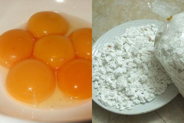 """Trứng gà, bột sắn – 2 nguyên liệu """"thần thánh"""" đánh bay mụn, sạch nám da hiệu quả 100%"""