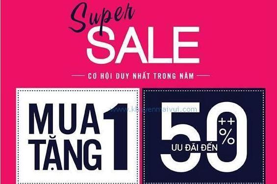 Sonkim Mode khuyến mãi mua 1 tặng 1, giảm giá đến 50% các sản phẩm Vera, Wow, Jockey (22/5 - 22/6)