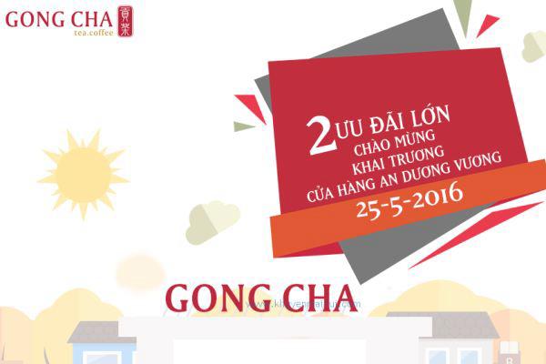 Gong Cha An Dương Vương khuyến mãi giảm giá 20%, tặng 100 ly sứ (25/5 - 27/5)