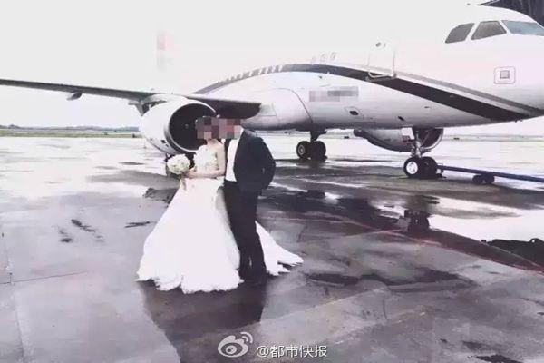 Đám cưới rước dâu bằng chuyên cơ hạng sang gây xôn xao