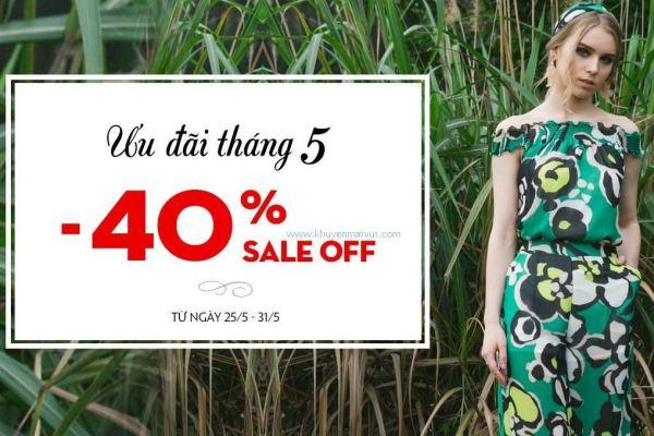 Thời trang KB khuyến mãi giảm giá 40% toàn bộ sản phẩm (25/5 - 31/5)