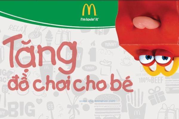 McDonald's khuyến mãi Quốc tế Thiếu Nhi 1/6 – tặng đồ chơi khi mua Happy Meal