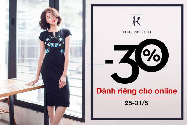 Hélene Hoài Fashion khuyến mãi giảm giá 30% toàn bộ sản phẩm (25/5 - 31/5)