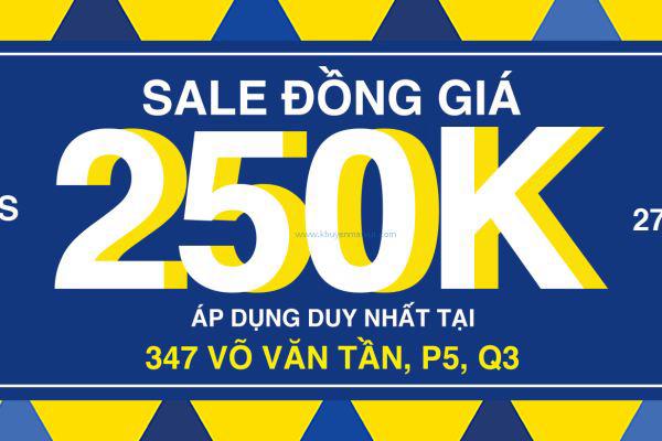 MARC Võ Văn Tần khuyến mãi đồng giá 250k (27/5 - 29/5)