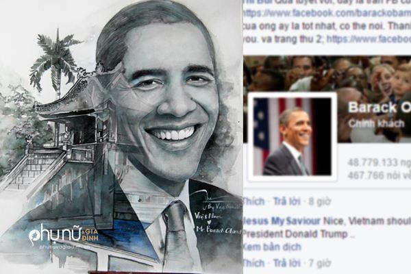 Sự thật khó tin đằng sau tranh vẽ Obama của 9X Việt hút gần 80.000 like