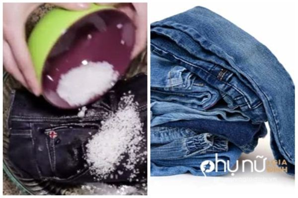 Đổ muối lên <a taget='_blank' data-cke-saved-href='http://phunuvagiadinh.vn/tag/quan-jeans' href='http://phunuvagiadinh.vn/tag/quan-jeans'><i>quần jeans</i></a>, bạn sẽ ước mình biết mẹo này sớm hơn