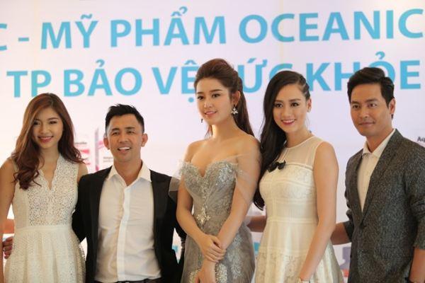Huyền My sánh vai Phan Anh tại lễ ra mắt sản phẩm làm đẹp - Ảnh 1