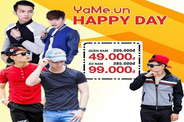 Happy Day dành cho những tín đồ Yame – Khuyến mãi đồng giá 49~79k từ 12 - 14/07