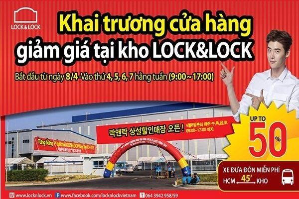 Lock&Lock TPHCM khuyến mãi tại kho Long Hậu, Long An – giảm giá đến 50%