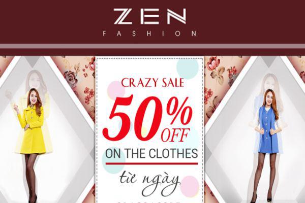 Thời trang Zen siêu khuyến mãi tháng 7/2016 – mua 1 tặng 1
