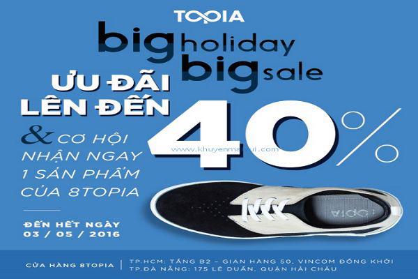 Từ 16/07 - 14/08 8TOPIA Shoes khuyến mãi End of Summer Sale – Giảm giá lên đến 40%