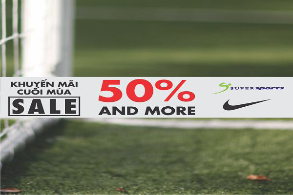Supersports khuyến mãi cuối mùa – Giảm giá đến 70% NIKE, Adidas, New Balance, Crocs, FILA, Speedo từ ngày 14 - 07/08