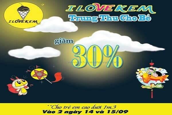 I Love Kem khuyến mãi Tết Trung thu – Giảm giá kem 30%, tặng lồng đèn trong 2 ngày 14 - 15/09