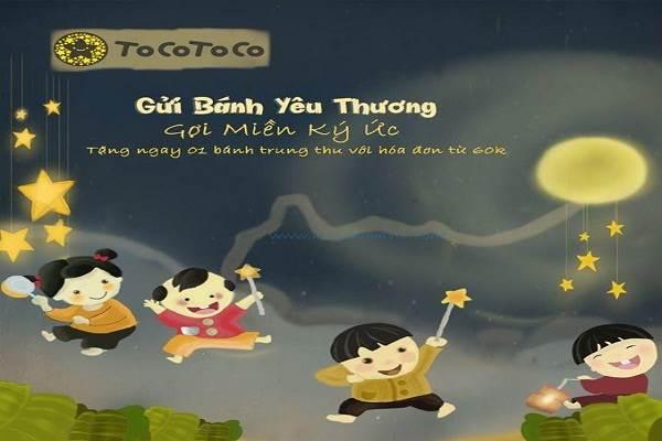 Từ ngày 13 - 15/09 Tocotoco khuyến mãi tặng bánh trung thu cho hóa đơn 60k