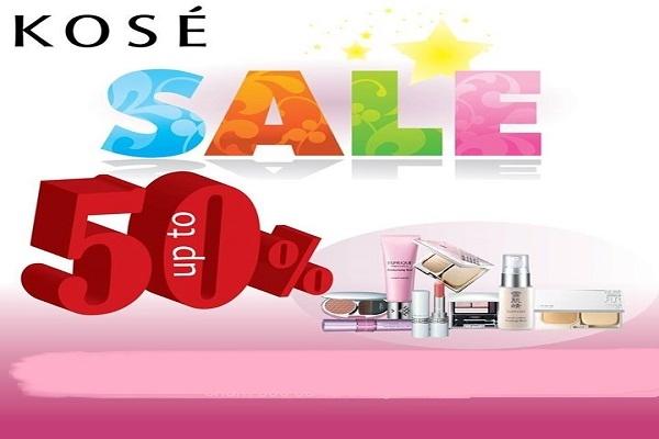Từ ngày 21 - 24/09 mỹ phẩm Kosé tạo sơn lốc ưu đãi đặc biệt 50%+++