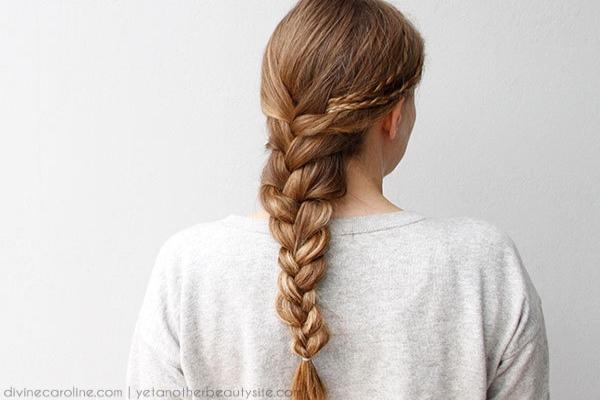 Hướng dẫn cách tết tóc kiểu đuôi sam kiểu Pháp