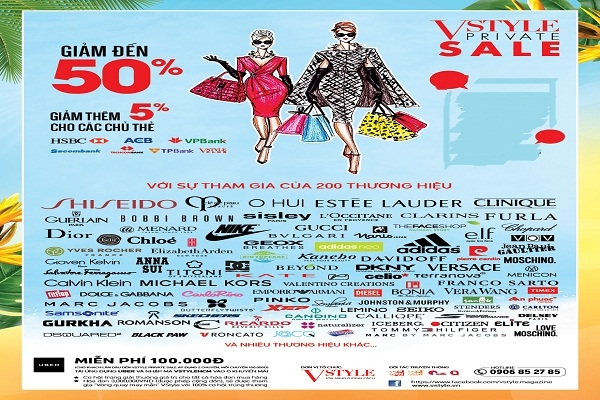 300 thương hiệu thời trang, mỹ phẩm đồng loạt giảm 50% từ ngày 19/09 - 02/10