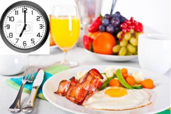 Thời gian ăn uống tốt nhất cho cơ thể