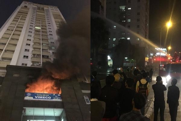 Hà Nội: Cháy trường mầm non ở tòa nhà Vimeco, nhiều người hoảng loạn tháo chạy