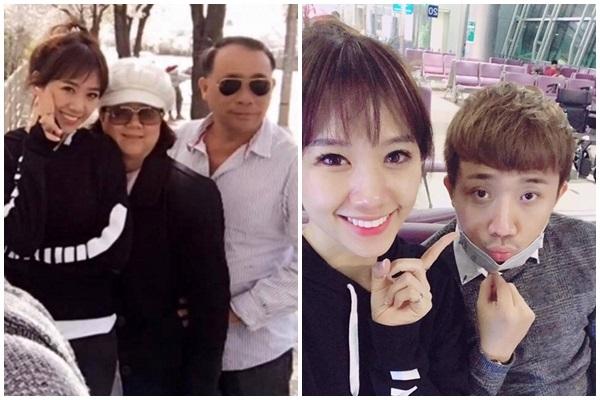 Hari Won đưa gia đình chồng sang Hàn Quốc nghỉ dưỡng