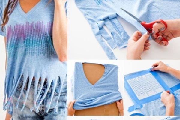 Mẹo cực độc 'hô biến' áo thun cũ thành áo croptop cho bạn gái diện hè