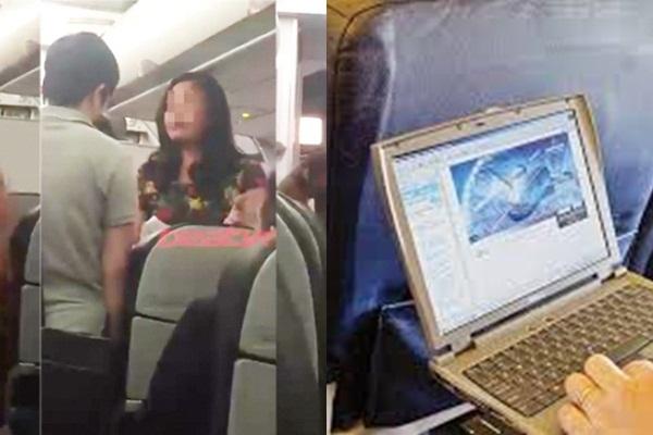 Đi máy bay: Người đánh ghen bổ guốc vào mặt nhau, kẻ tranh thủ xem phim 'nóng'