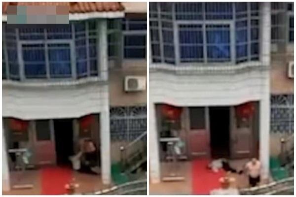 Clip: Con trai bất hiếu kéo lê mẹ già trên sân khiến dư luận phẫn nộ