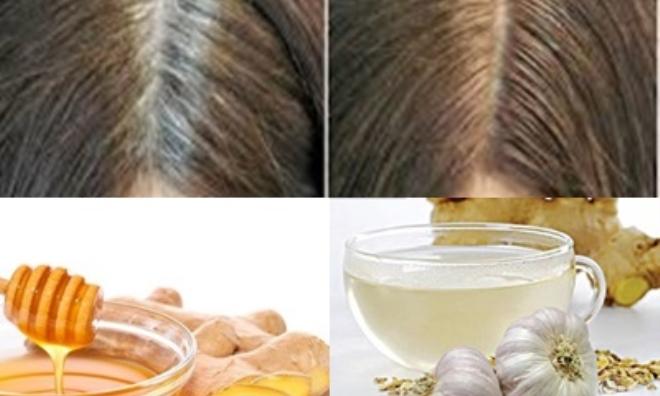 Chia tay tóc bạc nhanh chóng chỉ với 1 củ gừng tươi