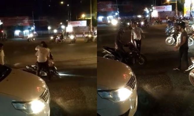 Gây chuyện, hai thanh niên bị cánh taxi đánh sấp mặt