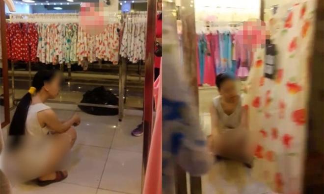 Xin quần áo không được, cô gái thoát y đi khắp trung tâm thương mại ở Hà Nội khiến bao người khiếp vía