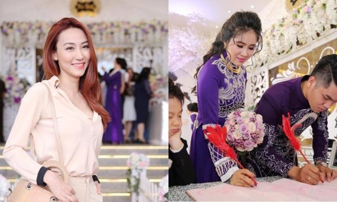 Ngân Khánh dự tiệc cưới Lê Phương ở Trà Vinh sau 2 năm rời showbiz