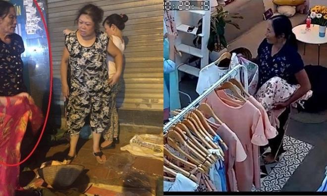 Các shop thời trang mất đồ tìm đến đòi lại hàng, bà cụ trộm quần áo bị mời lên công an phường