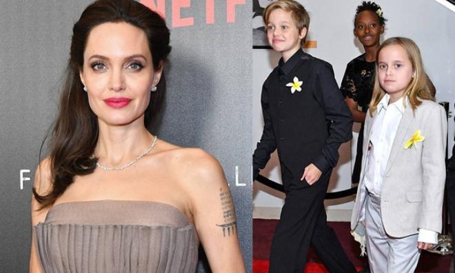 Nhà Angelina Jolie có 3 con gái, nhưng 2 bé trong số đó giờ đã giống hệt con trai