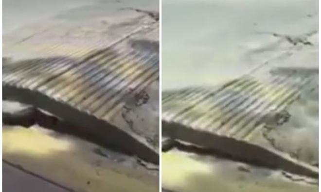 Đường 'thở' phập phồng sau trận động đất kinh hoàng ở Mexico
